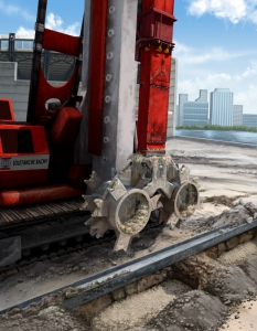 Geotechnical Construction Soil Cutter Illustration