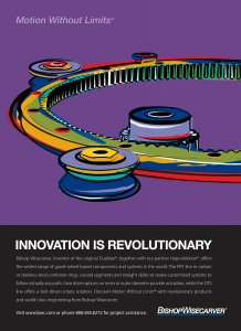 Ninetimes rotary guided motion system illustrated ad