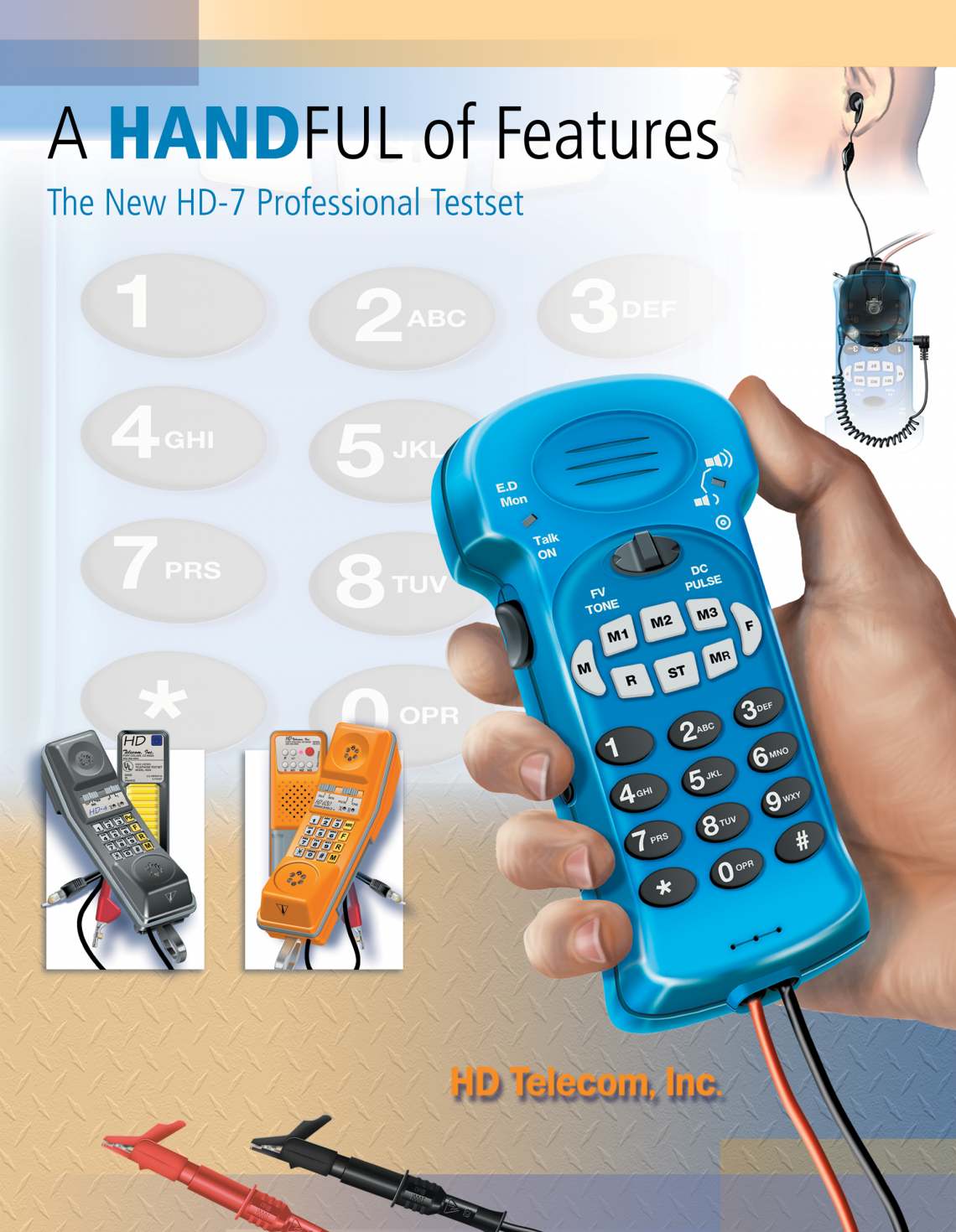 Telecom Test Equipment Exhibit – graphic design
