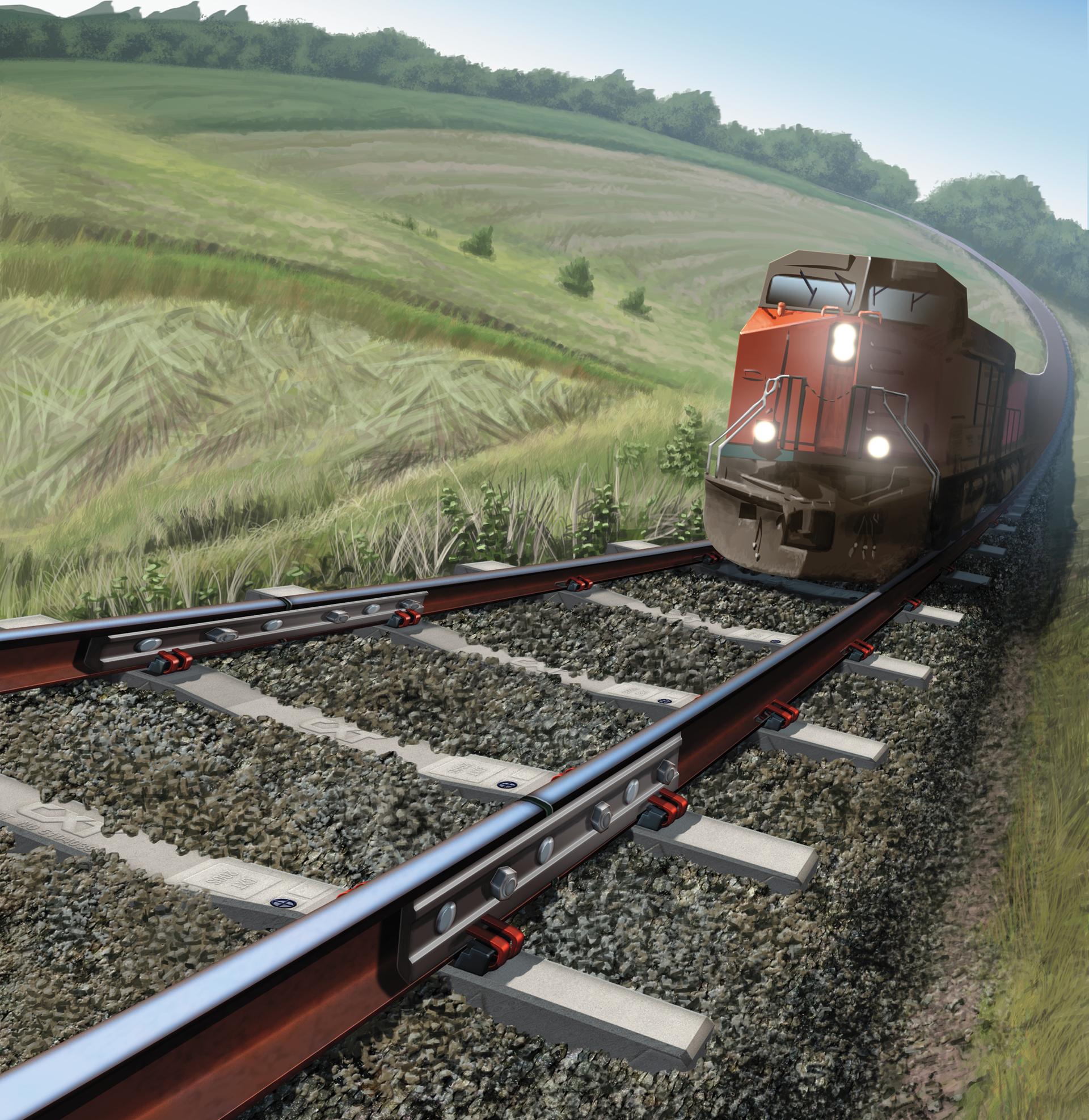 Insulated Rail Joint, Illustration, Ninetimes, L.B. Foster Rail, Allegheney Rail Joints, Rail Scene, Rail Track, 3D Model, L.B. Foster, Rail Joint, Track