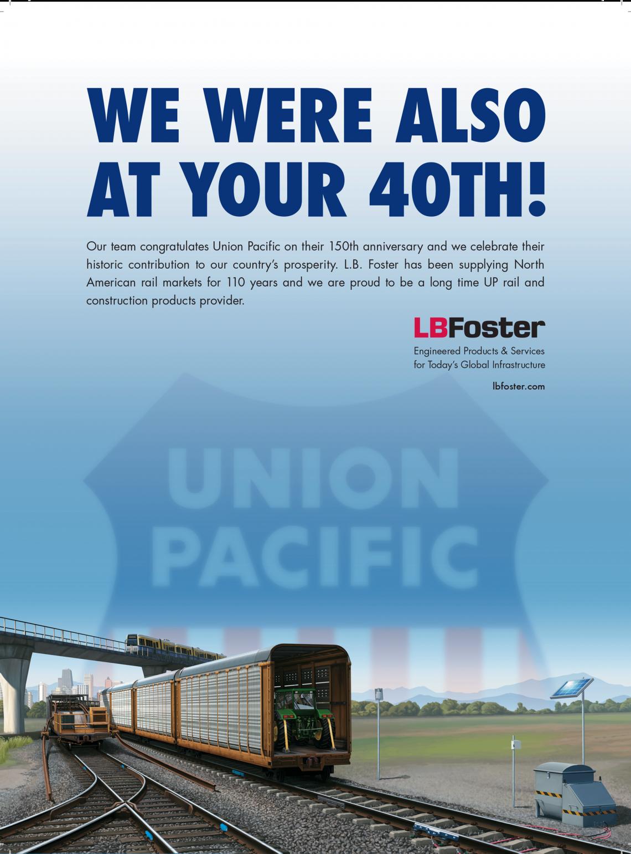 Union Pacific Railroad congratulatory ad