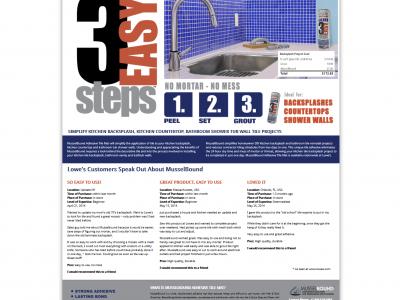 Musselbound Adhesive Tile Mat Website Design