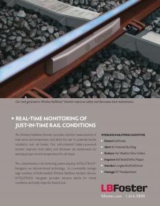 Rail Monitoring Systems – illustration