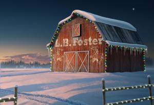 Pennsylvania Barn Holiday Scene