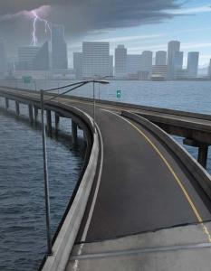 Ninetimes Highway Bridge Illustration