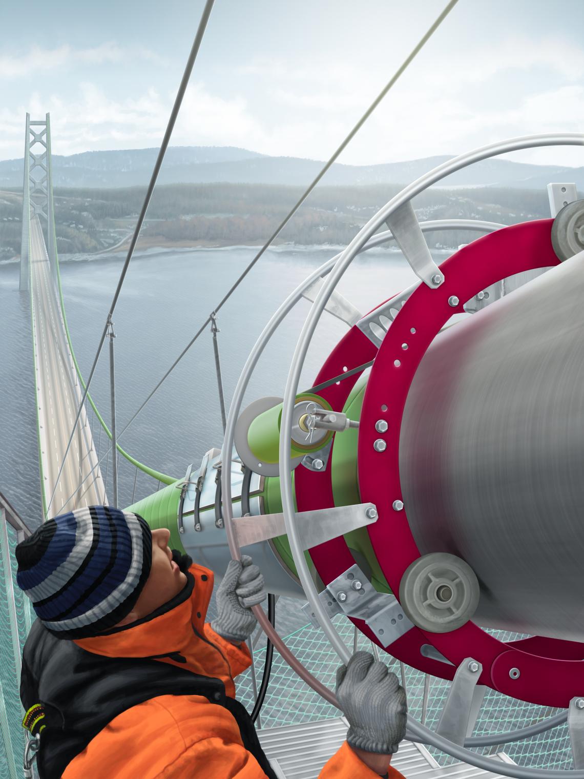 Suspension Bridge Cable Dehumidification