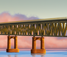 Bridge Infrastructure Illustration
