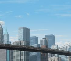 Brooklyn Bridge Illustration