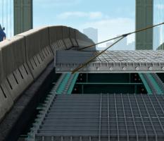 steel grid deck bridge illustration