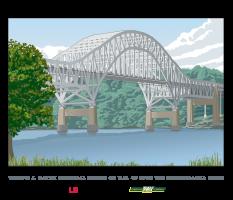 Thomas J. Hatem Memorial Bridge illustration