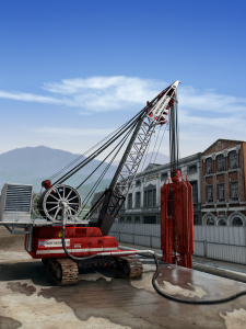 hydrofraise, Ninetimes, illustration, coal power plant, 3D model, Nicholson Construction, geotechnical construction, geotech, auger drill