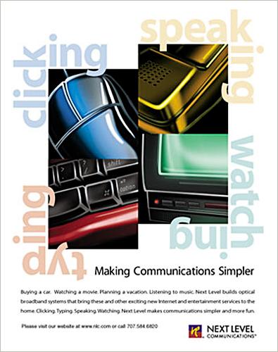 Communication Services Illustrated Ad, Motorola, Ninetimes, Graphics, Illustration, Telecommunications, Telecom, Communications, Magazine Ad, Print Media
