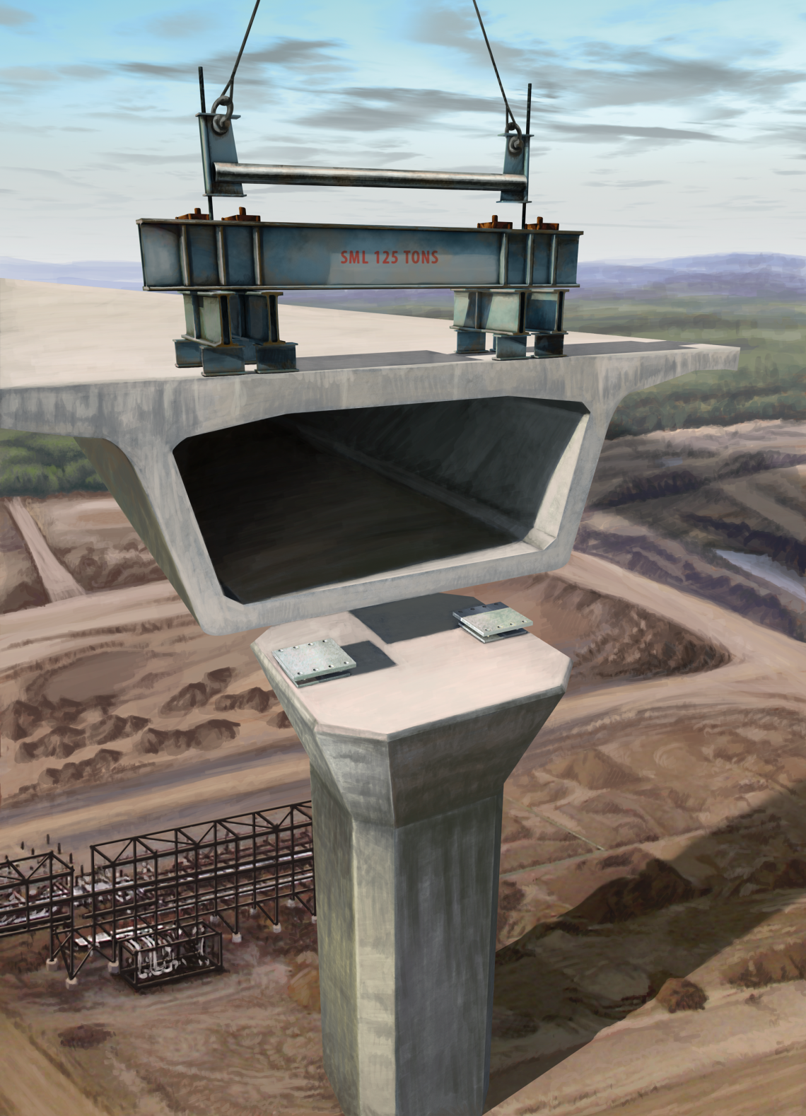 Concrete Bridge Deck Seismic Bearing illustration