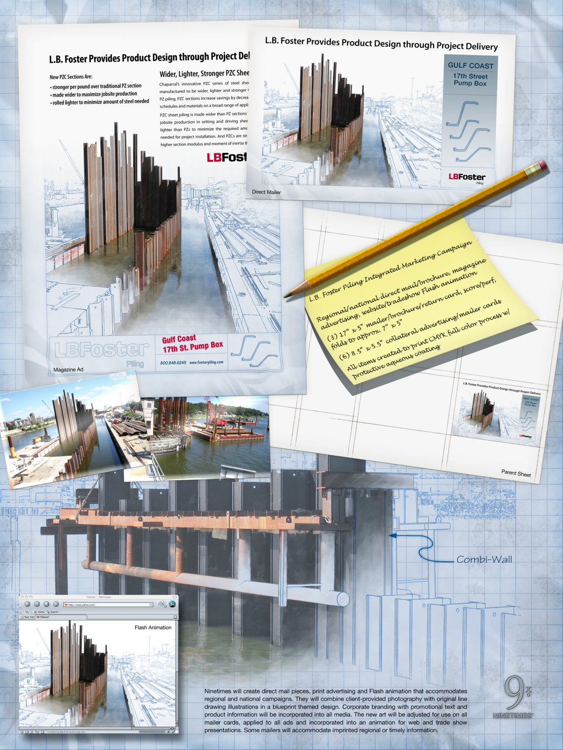 Sheet Piling marketing concept poster