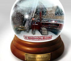 Nicholson Construction Holiday Card – illustrated image
