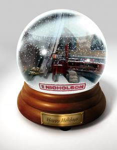 Nicholson Construction Holiday Card – illustrated image
