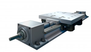 linear motion system, Ninetimes, illustration, manufacturing automation component, Bishop Wisecarver, BWC, linear guide systems, screw-driven linear motion