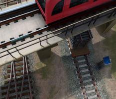 Transit Train on a Bridge – illustration