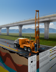 Bentley Systems Geotechnical Software – conceptual cutaway illustration