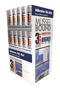 product display, Ninetimes, illustration, MusselBound, MusselBound Adhesive Tile Mat, product illustration, Lowe's Home Improvement Center, 3D model, DIY