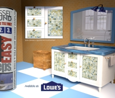 3D Modeled Room With Product – Facebook post image