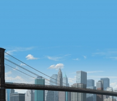 Ninetimes Brooklyn Bridge Illustration