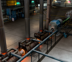 Pipe Coating Plant 3D model