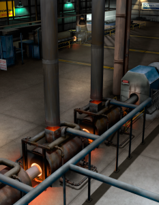 Pipe Coating Plant 3D model