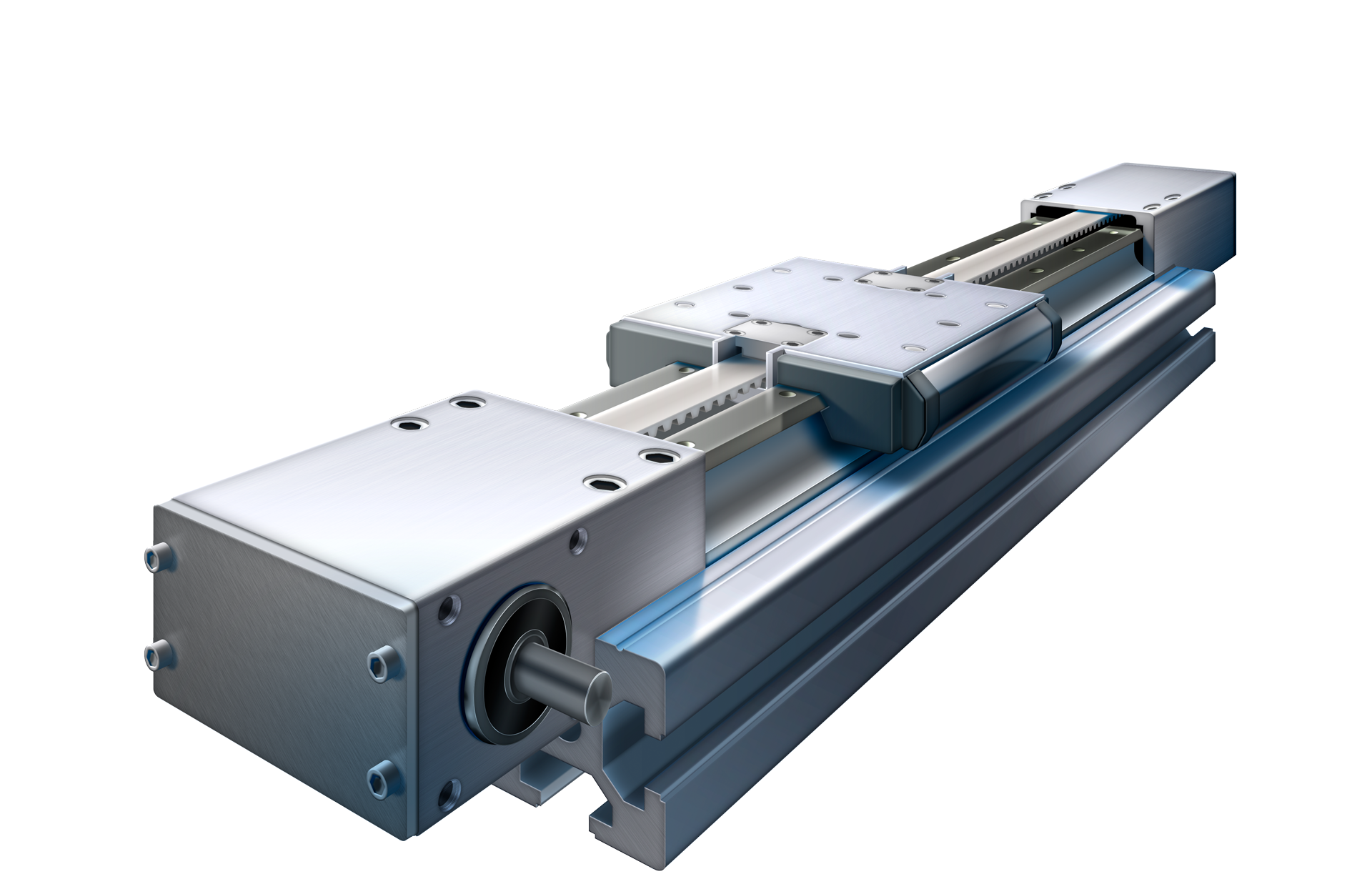 Manufacturing Automation System, Ninetimes, Actuated Linear Guide System, Illustration, Linear Actuator, Bishop Wisecarver, BWC, Linear Motion Systems