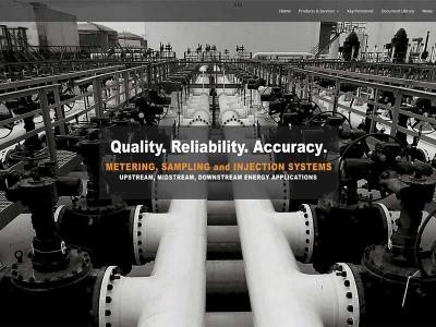 Pipeline Metering website design