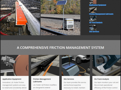 Rail Friction Management Website Development