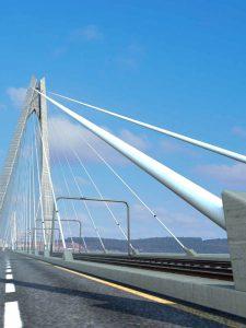 Cableguard suspension bridge cables protection dehumidification Ninetimes illustration, Bridge Design & Engineering ad