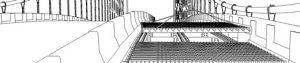 Walt Whitman Bridge steel grid deck bridge illustration Ninetimes 3D model