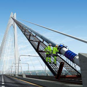 Cableguard Suspension Bridge Cables Protection Dehumidification Ninetimes Illustration