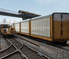 Railroad Infrastructure Illustration