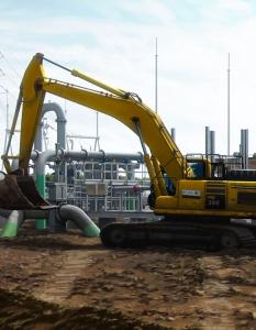 Heavy Equipment Excavator Illustration