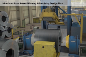 steel pipe mill, Ninetimes, animation, illustration, ERW welding, energy pipe, API certified, 3D model, pipeline, transmission pipe, steel pipe manufacturer