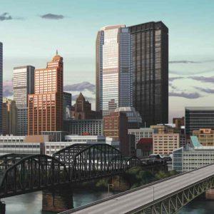Bridge Construction Illustration, Ninetimes, Liberty Bridge, Pittsburgh Bridge, Steel Grid Deck, Bridge Decking, Concrete Reinforced Deck Panel