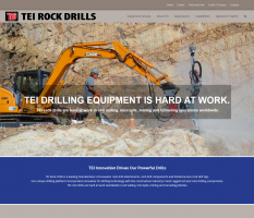 Ninetimes Creates New TEI Rock Drills Website