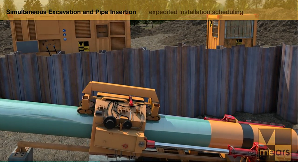 Mears, Mears Group, Horizontal Drilling, Pipeline, Ninetimes, Animation, 3D